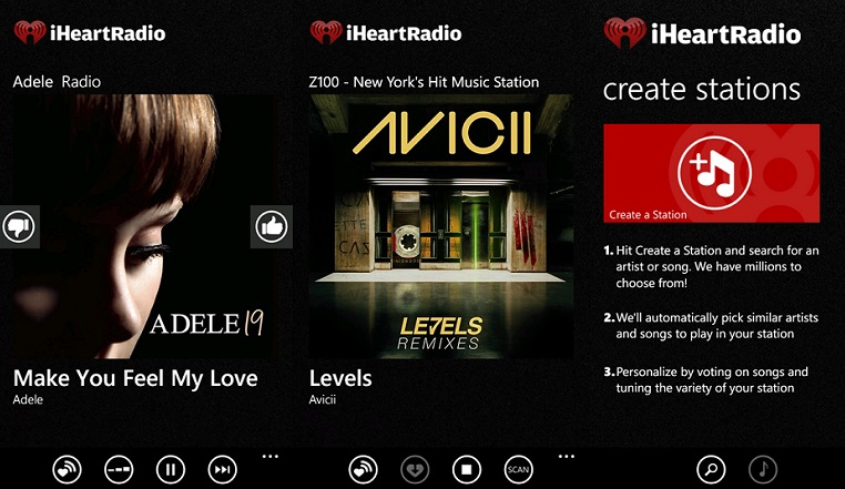 download songs on iphone with iheartradio