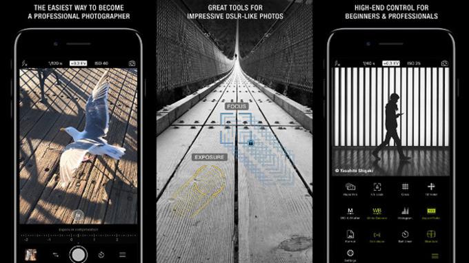 Ứng dụng chụp ảnh đẹp cho iPhone, Camera Pro, là một phần mềm phổ biến