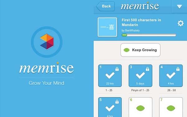 phần mềm memrise cũng là một