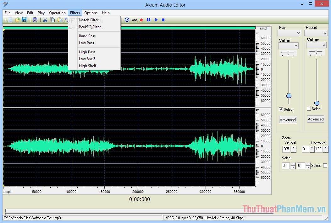 Phần mềm Akram Audio Editor