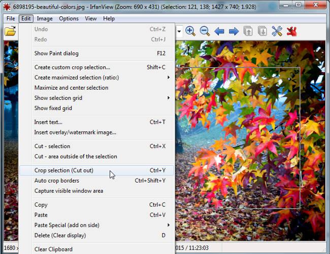 Phần mềm chỉnh sửa ảnh InfanView