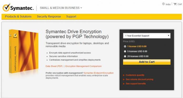 Phần mềm Symantec Drive Encryption