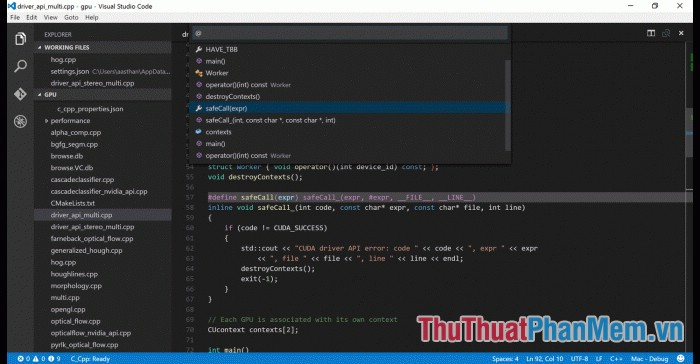 Phần mềm Visual Studio Code