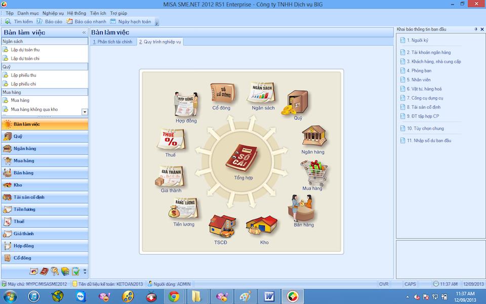 Phần mềm kế toán Misa