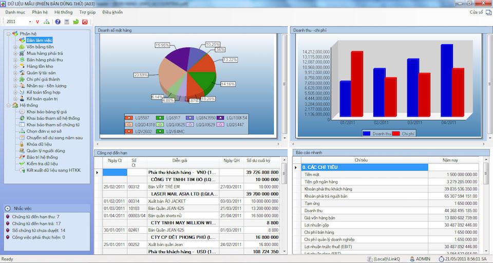 Phần mềm kế toán LinkQ