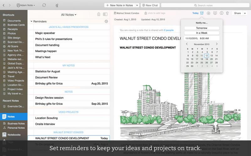 Những ứng dụng cần thiết cho Macbook - Evernote