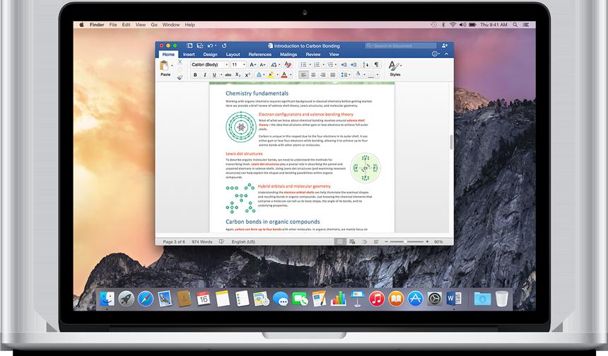 Những ứng dụng cần thiết cho Macbook - Microsoft Office