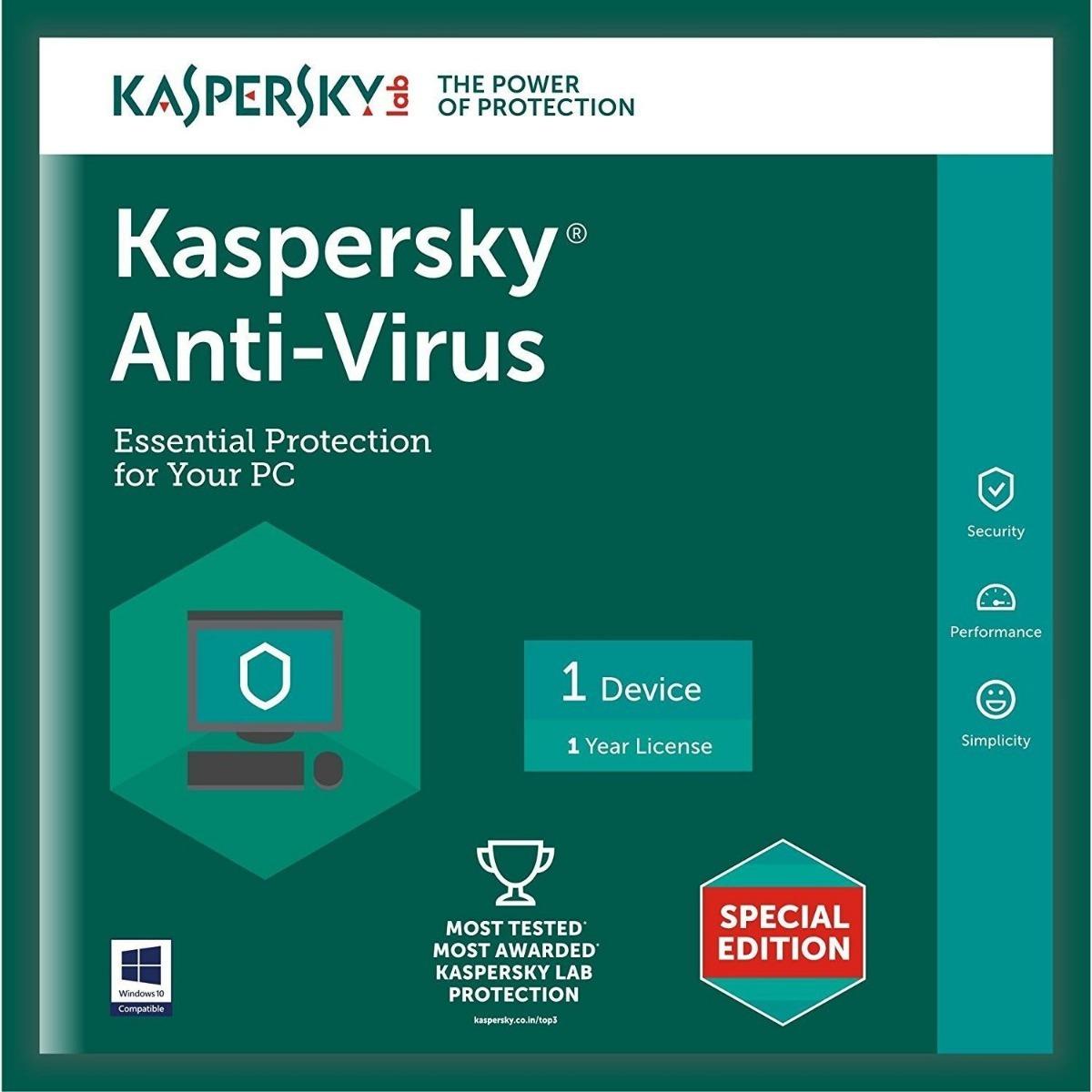 Kaspersky Anti-Virus 1PC: Mua bán trực tuyến Phần mềm bảo mật với giá rẻ |  Lazada.vn