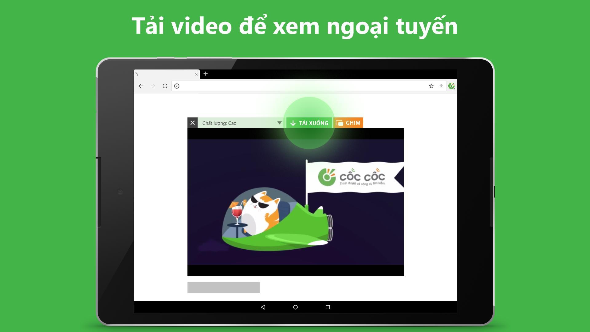 Trình duyệt Cốc Cốc - Duyệt web nhanh & an toàn cho Android - Tải về APK