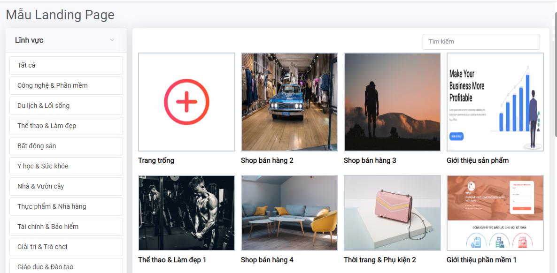 Phần mềm Marketing AMIS Landing Page