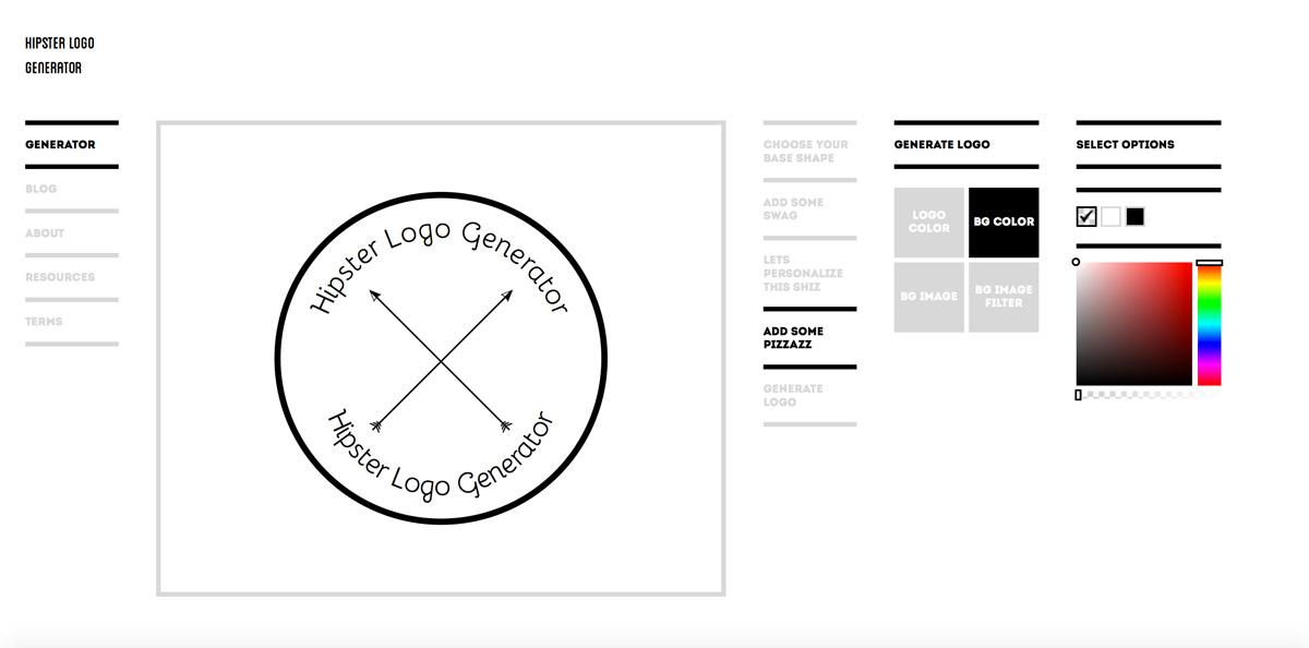 Phần mềm thiết kế LogoHipster