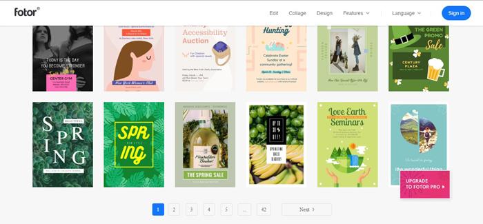 Phần mềm thiết kế Poster - Poster Fotor