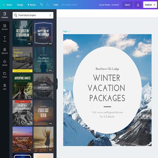 Phần mềm thiết kế Poster -Canva