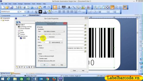 Phần mềm in mã vạch Bartender