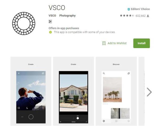 Phần mềm chỉnh ảnh miễn phí VSCO