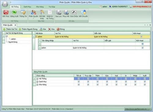 Phần mềm quản lý vật tư Perfect Warehouse