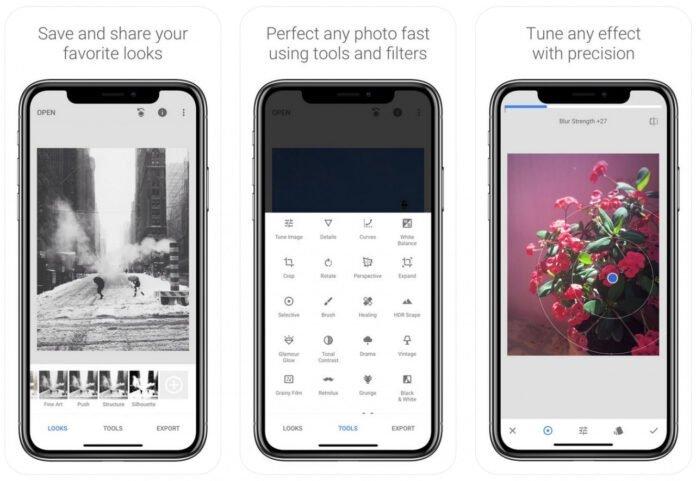 Phần mềm chỉnh ảnh miễn phí Snapseed