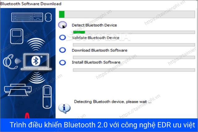 hỗ trợ kết nối Bluetooth